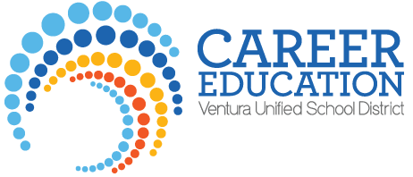 VUSD Career Education Logo Blue